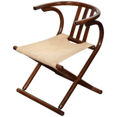 Mid-Century Thonet Style Bentwood Folding Chair