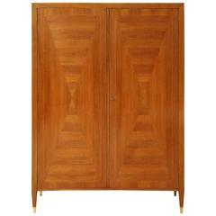 Mid-Century Italian Walnut Two Door Cabinet, circa 1950-1960