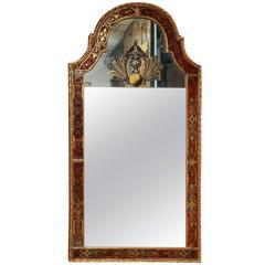 Large Queen Anne Églomisé Mirror