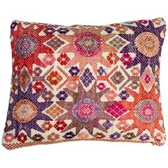 Vintage Vietnamese Hill Tribe Embroidered Pillow