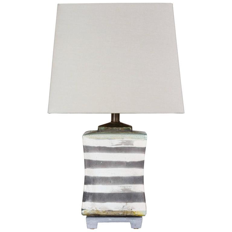 Raku Ceramic Lamp 1