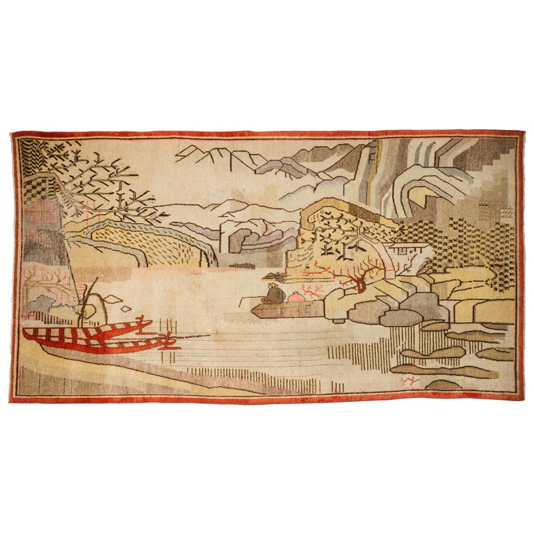 Samarkand Pictorial Rug or Tapestry For Sale