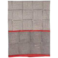 Gopal Indian Block Print Cotton Bedcover in Red and Black