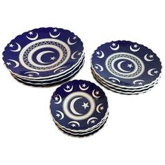 Set of 12 Hand-Painted Turkish Plates