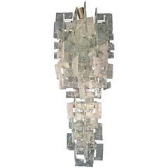 Mid-Century Modern Chandelier by Carlo Nason for Mazzega, Murano Glass