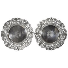 Pair of Tiffany & Co. Sterling Silver Reticulated Plates