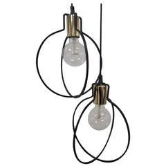 Window Lamps in Metal and Glass