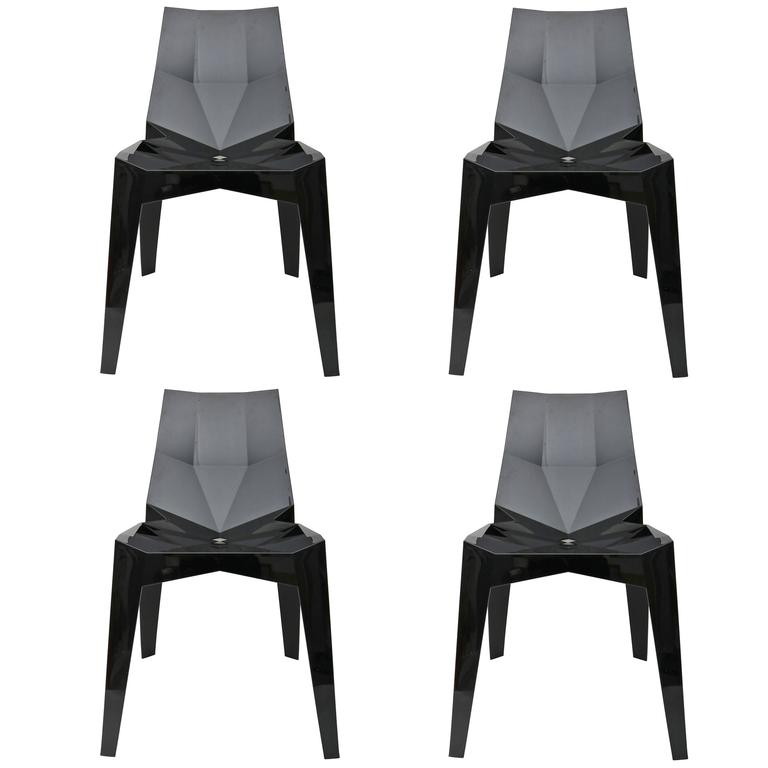 Set of Four Side Chairs by Karim Rashid for Bonaldo
