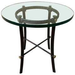 Iron Glass Top Table
