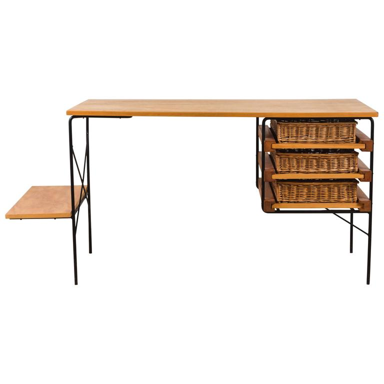 Iron and Maple Desk by Dorothy Schindele for Modern Color CA 1