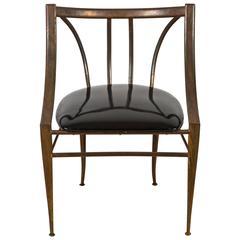 Mid-Century Brass Side Chair