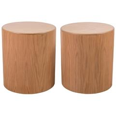 Pair of Oak Prospect Tables by Lawson-Fenning