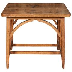 Small Oak Arts and Crafts Table