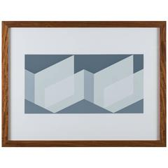 "Screen Print from ""Formulation, Articulation Portfolio II"" by Josef Albers"