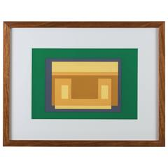 "Screen Print from ""Formulation: Articulation Portfolio II"" by Josef Albers"