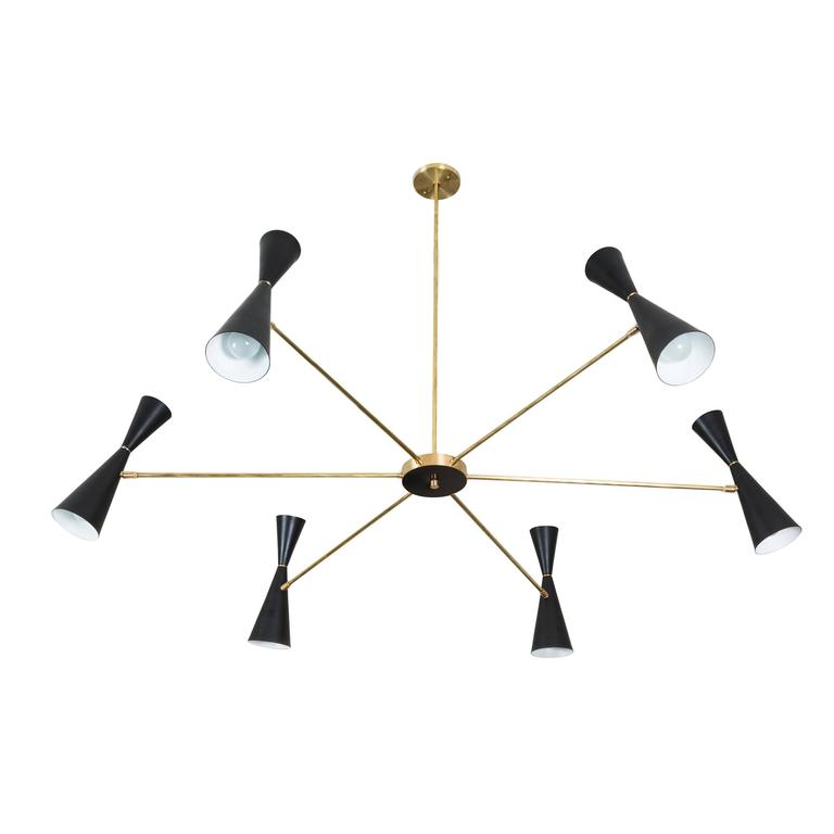Radial Chandelier by Lawson-Fenning For Sale