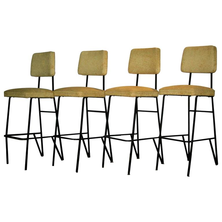 Mid 20th Century Iron Bar Stools At 1stdibs