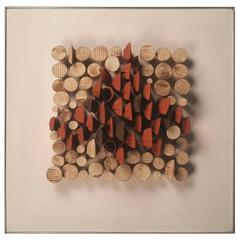 Relique III, Low Relief Abstract Ceramic Wall Sculpture by Will Farrington