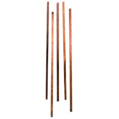 Collection European Wooden Meter Sticks, circa 1900