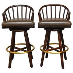 Pair Of Swiveling Workshop Bar Stools For Sale At 1stdibs