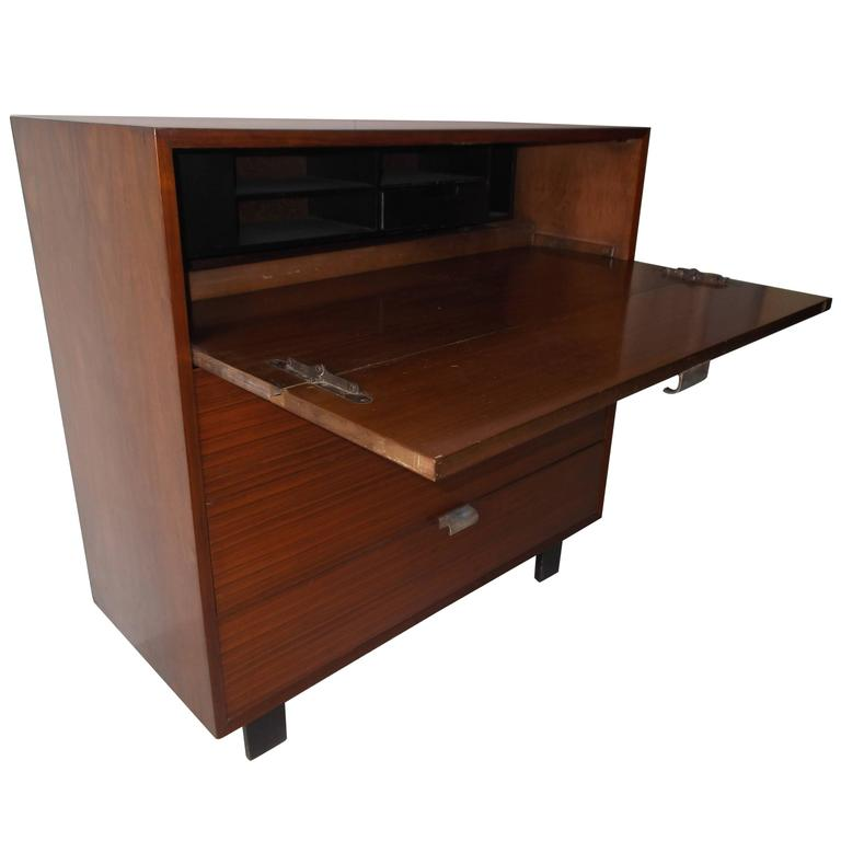 1950s Herman Miller George Nelson Secretary Desk Dresser Walnut For