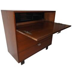 1950s Herman Miller George Nelson Secretary Desk Dresser Walnut