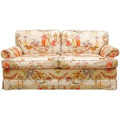 Hazelton House English Chinoiserie Settee by Baker