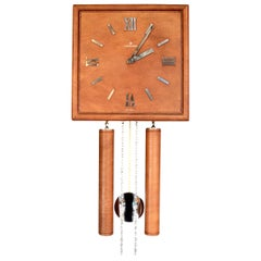 German Leather Wall Clock