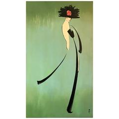 Fashion Silhouette Painting by René Gruau