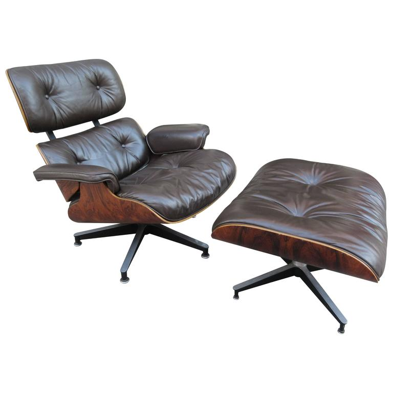 Eames for Herman Miller Rosewood 670 Lounge Chair and Ottoman 1