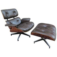 Eames for Herman Miller Rosewood 670 Lounge Chair and Ottoman