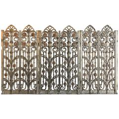 Art Deco Cast Steel Architectural Panels with Bronze and Copper Inserts