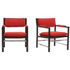 Outstanding Pair of Edward Wormley for Dunbar Chairs