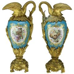 Pair of 19th Century Sevres Mantel Decorations