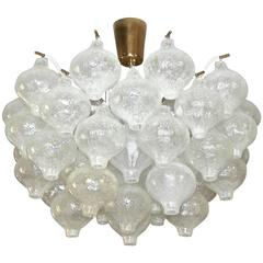 Kalmar Tulipan Glass Semi Flush Mount Chandelier Ceiling Light