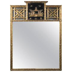 Chinoiserie Gilt and Lacquered Mirror
