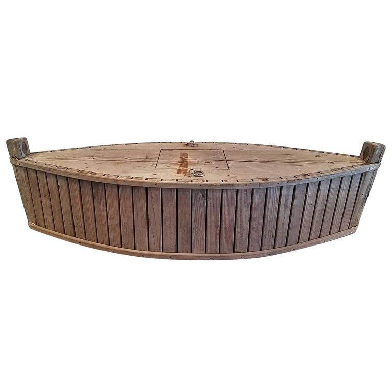 French Rustic Eel Box Makes a Fabulous Garden Planter for Inside or Out