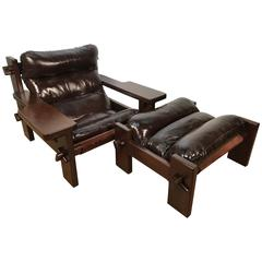 Large-Scale Jean Gillon Chair and Ottoman