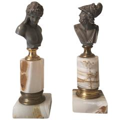 Pair of French 19th Century Grand Tour Busts in the Neoclassical Taste
