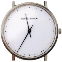"""Henning Koppel """"Gentleman's Wristwatch of Steel,"""" Manufactured by Georg Jensen"""