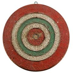 Original Diminutive French Dartboard, French, circa 1900