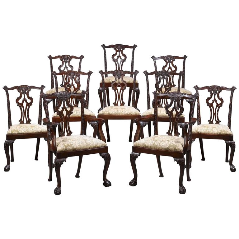 Chippendale Style Dining Chairs Set