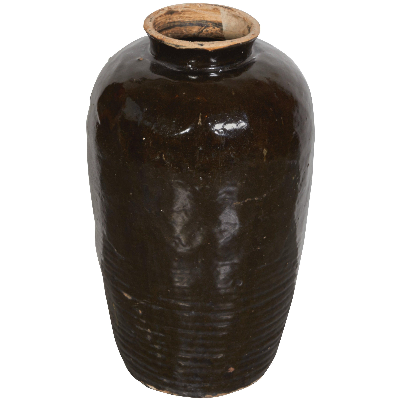Large Antique Chinese Ceramic Wine Jar