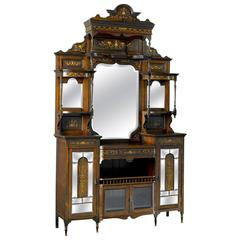 19th Century Inlaid Rosewood Etagere