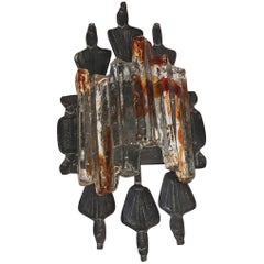 Tom Ahlstrom and Hans Ehrich Brutalist Mid-Century Wall Sconce