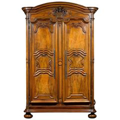 French Provincial Walnut Armoire