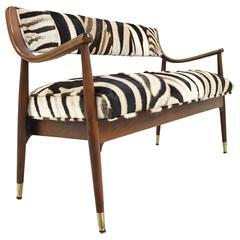 Danish Style Settee in Zebra