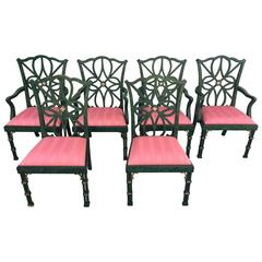 Smith and Watson Faux Malachite Dining Chairs