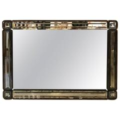 Hollywood Regency Beveled Glass Mirror