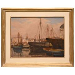 """Plymouth Harbour"" Painting by Donald Henry Floyd"